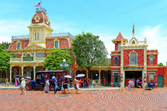 Hong kong disneyland main street Royalty Free Stock Image