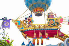 HONG KONG DISNEYLAND: Mickey in the daytime parade Royalty Free Stock Photos