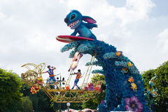 HONG KONG DISNEYLAND: Stitch in the parade Royalty Free Stock Photos