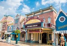 HONG KONG DISNEYLAND - MEI 2015: Main Street, U S A Hongkong Disneyland royalty-vrije stock fotografie