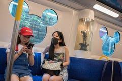 Hong Kong Disneyland poci?g fotografia royalty free