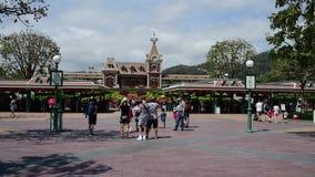 Hong Kong Disneyland Theme Park stock videobeelden