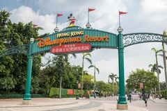 Hong Kong Disneyland Theme Park arkivfoto