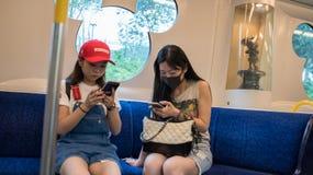 Hong Kong Disneyland Train foto de stock royalty free