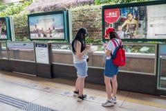 Hong Kong Disneyland Train Station foto de stock