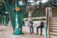 Hong Kong Disneyland Train Station imagem de stock