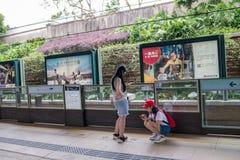 Hong Kong Disneyland Train Station fotografia de stock royalty free