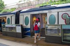 Hong Kong Disneyland Train Station fotografia de stock