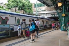 Hong Kong Disneyland Train Station fotos de stock