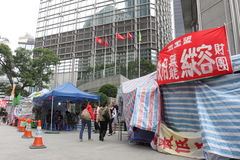 Hong Kong Dock Worker Strike Images stock