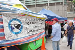 Hong Kong Dock Worker Strike Photographie stock libre de droits