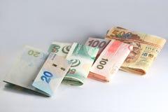 Hong kong dollar. Of twenty, fifty, hundred and five hundred royalty free stock photo