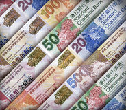 Hong Kong Dollar Background Lizenzfreies Stockbild