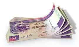 Hong Kong Dollar Bank Notes Spread Stock Image