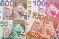 Hong Kong Dollar a background stock photography