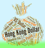Hong Kong Dollar Indicates Forex Trading And Currency Stock Image