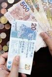 Hong Kong dollar med mynt Royaltyfria Foton
