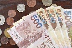 Hong Kong dollar med mynt Fotografering för Bildbyråer