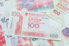 Hong Kong Dollar-munt Stock Foto's
