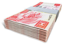 Hong Kong Dollar Notes Bundles Stock Foto