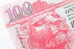 Hong Kong 100 dollar papperssedel Arkivfoto