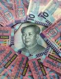 Hong Kong dollar versus Yuan Stock Image