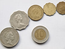 Hong Kong-Dollarmünze Stockbild