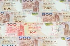 Hong Kong dollars background Stock Photos