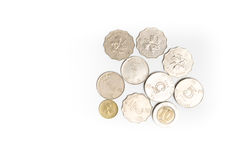 Hong Kong dollars coins isolated Royalty Free Stock Photography