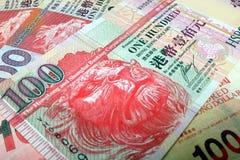 Hong Kong Dollars HKD HK$100 Royaltyfria Bilder