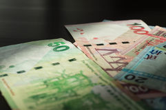 The Hong Kong dollars lit with the sun Stock Photography