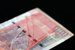 100 Hong Kong-dollars op een donkere achtergrond Royalty-vrije Stock Foto