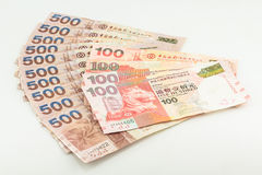Hong Kong dollars on white background Stock Photography