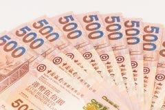 Hong Kong dollars on white background Royalty Free Stock Image