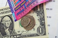 Hong Kong dollarvalutakurs Arkivbilder