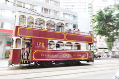 Hong Kong Double-Decker classical Tram. The Hong Kong Double-Decker classical Tram Royalty Free Stock Photography