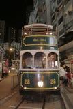 Hong Kong Double-Decker klassisk spårvagn arkivbilder