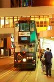 Hong Kong Double-Decker Tram Stock Afbeeldingen