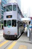 Hong Kong Double-Decker Tram royaltyfria bilder