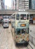 Hong Kong Double Decker Tram arkivbild