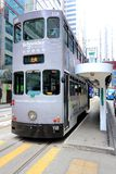 Hong Kong Double-Decker Tram Royalty Free Stock Images