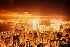 Hong Kong downtown Royalty Free Stock Images