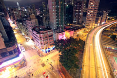Hong Kong downtown Stock Photography