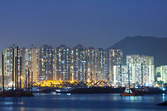 Hong Kong downtown along the coast Royalty Free Stock Photo