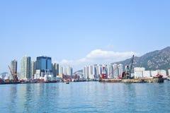 Hong Kong downtown along the coast Stock Images