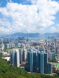 Hong Kong Downtown on Day. The view of many modern buildings of Hong Kong on day Royalty Free Stock Photo