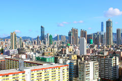 Hong Kong downtown at day time Stock Photos