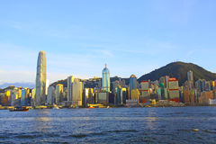 Hong Kong downtown at day time Royalty Free Stock Image