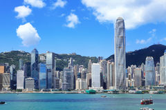 Hong Kong downtown Stock Photo