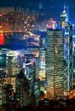 Hong Kong downtown at night Stock Photo